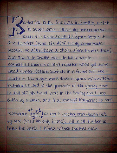 Katherine's Diary teaser summary. Click to enlarge.